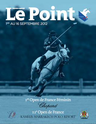 2ème Open de France Féminin de Polo Chopard - Couverture Le POint 2012